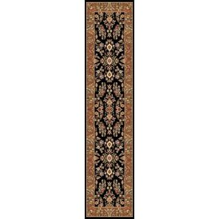 Safavieh Lyndhurst Collection Traditional Black/ Ivory Runner (23 x 8