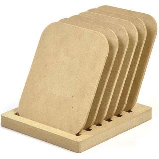 Beyond The Page MDF Rectangle Coasters (Pack of 6)