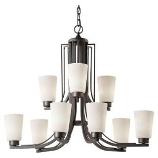 Feiss Weston 9 Light Colonial Iron Multi Tier Chandelier F2764/6+3CI LA