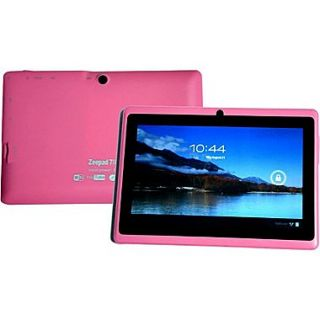 Worryfree Gadgets Zeepad 7DRK, 7 Tablet, 4 GB, Android Jelly Bean, Wi Fi, Pink