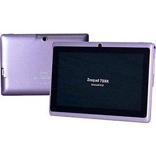 Worryfree Gadgets Zeepad 7DRK, 7 Tablet, 4 GB, Android Jelly Bean, Wi Fi, Purple