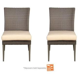 Hampton Bay Posada Patio Dining Chair with Cushion Insert (2 Pack) (Slipcovers Sold Separately) 153 120 SCHR PR NF