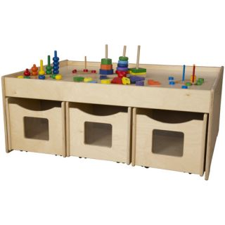 Activity Island 44 x 18 Rectangular Classroom Table by Wood Designs