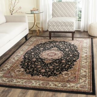 Safavieh Lyndhurst Collection Traditional Black/ Ivory Rug (53 x 76