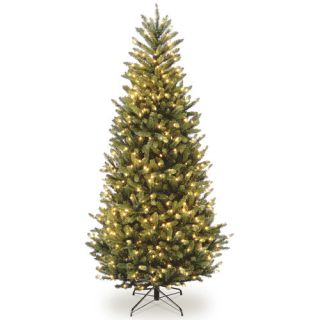 National Tree Co. 7.5 Natural Fraser Slim Fir Hinged Tree with 600