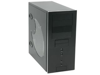 SilverStone Temjin Series TJ04BW Black Aluminum front panel, 0.8mm SECC body ATX Mid Tower Computer Case