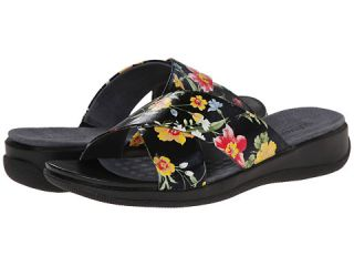 SoftWalk Tillman Midnight Floral Printed Leather