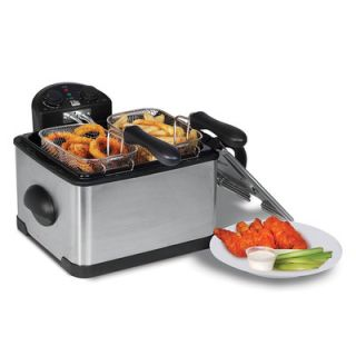 Elite by Maxi Matic 3.8 Liter Dual Basket Deep Fryer