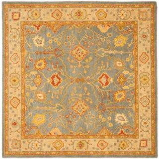 Safavieh Antiquity Blue/Ivory 6 ft. x 6 ft. Square Area Rug AT314A 6SQ