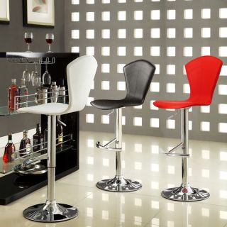 Cumar Contemporary Chrome Air Lift Adjustable Swivel Stools (Set of 2)
