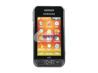 Samsung Star WiFi Black Unlocked GSM Touch Screen Phone with 3.15MP Camera / Wi Fi / Smile Detection (S5233W)