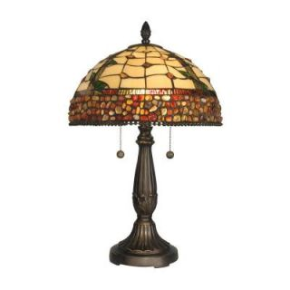Dale Tiffany 27 in. Pebblestone Edge with Jewels Branch Art Glass Table Lamp DISCONTINUED TT10847