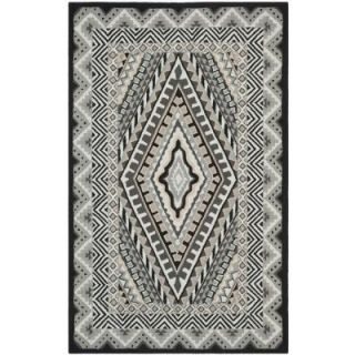 Safavieh Four Seasons Ivory/Grey 5 ft. x 8 ft. Indoor/Outdoor Area Rug FRS490A 5