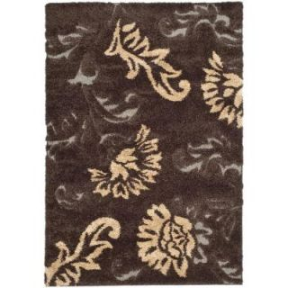 Safavieh Florida Shag Dark Brown/Smoke 5 ft. 3 in. x 7 ft. 6 in. Area Rug SG463 2879 5