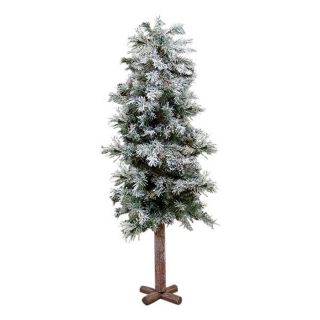 Northlight Allstate Floral and Craft 4 ft Alpine Flocked Slim Artificial Christmas Tree