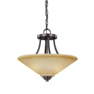 Sea Gull Lighting Parkfield. 2 Light Flemish Bronze Indoor Convertible Semi Flush Mount 7713002 845
