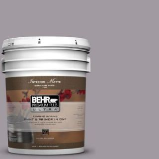 BEHR Premium Plus Ultra 5 gal. #N570 3 Art Nouveau Glass Matte Interior Paint 175405