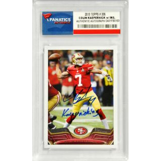 Colin Kaepernick San Francisco 49ers  Authentic Autographed 2013 Topps #336 Card with Kaepernicking Inscription