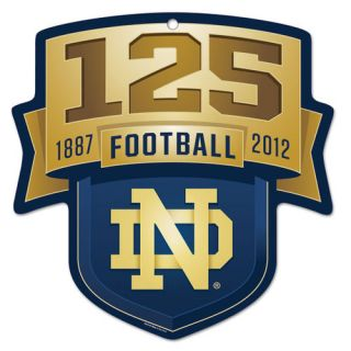 NCAA - Notre Dame Fighting Irish 125 Year Celebration 11x11 Wood Sign