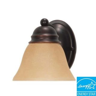Glomar 1 Light Mahogany Bronze Sconce HD 3125