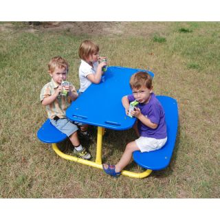 Kids Rectangle Tot Picnic Table by Kidstuff Playsystems, Inc.
