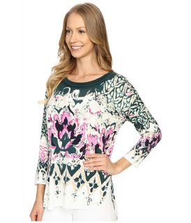 Nic Zoe Rosette Top Multi, Clothing, Women