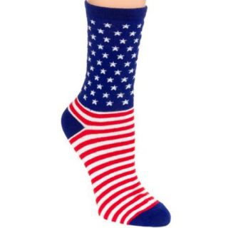 JYinstyle NEW Womens USA Flag Cotton Casual Dress Designed Fashion Crew Socks