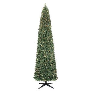 Prelit Slim Alberta Spruce Artificial Christmas Tree   Clear lights