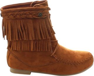 Womens Wild Diva Starcy 86 Ankle Boot   Cognac Faux Suede