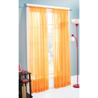 Mainstays Marjorie Brights Sheer Panel, Set of Two, Competitive Orange