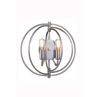 Elegant Lighting Vienna Collection 1453 Wall Lamp with Polished Nickel