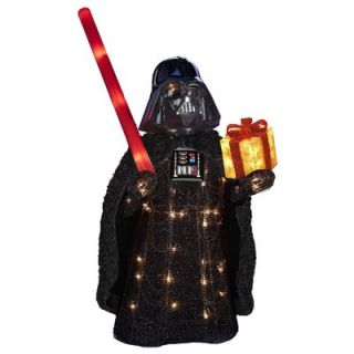 Star Wars Lawn Decoration, Lighted Darth Vader Bearing Gift, 28 In. Model# ZTSW9TV9155