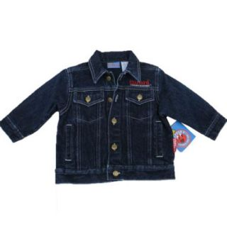 Clifford The Big Red Dog Baby Boys Blue Button Denim Jean Jacket 12 24M