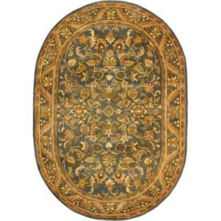 Safavieh Antiquity Blue/Gold 7 ft. 6 in. x 9 ft. 6 in. Oval Area Rug AT52C 8OV