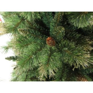 Holiday Time Pre Lit 7.5' Gold Glitter Artificial Christmas Tree, Clear Lights