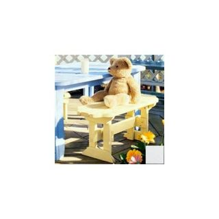 Uwharrie Chair 8078 Kids Picnic Bench   White
