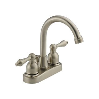 Delta Faucets Peerless 2 handle Centerset Satin Nickel Lavatory