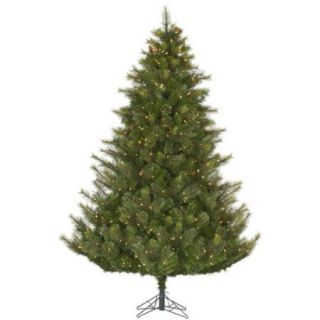 9' Full Modesto Mixed Pine Artificial Christmas Tree   Clear Dura Lit Lights