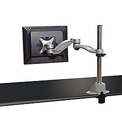 Kelly Desk Mount Flat Panel Monitor Arm With Dual Extension Silver