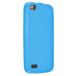 Insten Clear Rugged TPU Rubber Candy Skin Phone Case Cover For BLU