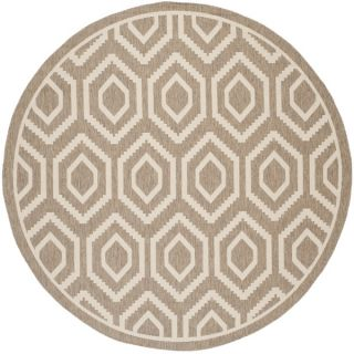 Safavieh Indoor/ Outdoor Courtyard Contemporary Brown/ Bone Rug (710