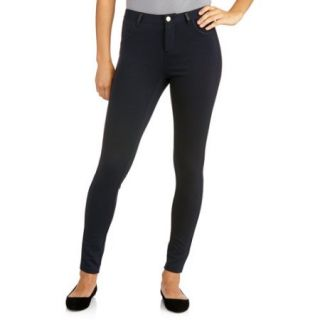 Miss Tina Women's Ponte Jean with Pleather