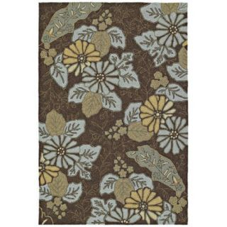 Kaleen Home & Porch Morning Glory Robins Egg Indoor/Outdoor Area Rug