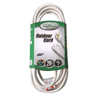 Coleman Cable 20 ft. 16/3 SJTW Outdoor Vinyl Extension Cord 023528801