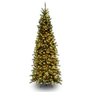 National Tree Co. Tiffany Fir 9 Green Slim Artificial Christmas Tree