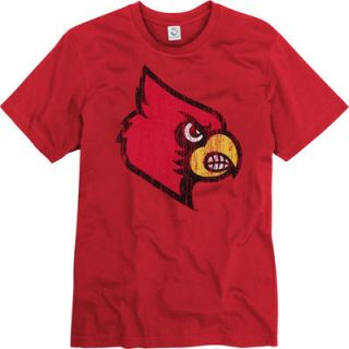 Louisville Cardinals Red Mascot Ringspun T Shirt