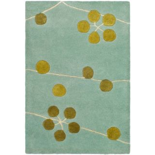 Safavieh SOH327A Soho Wool Hand Tufted Light Blue Gold Rug