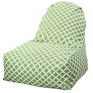Majestic Home Goods Indoor/Outdoor Bamboo Polyester Kick It Bean Bag Chair, Sage