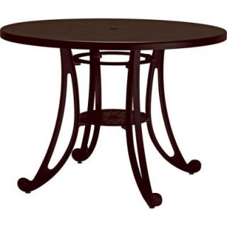 Tradewinds Terrace Hazel Nut 42 in. Round Commercial Patio Table HD C73H2AM HN