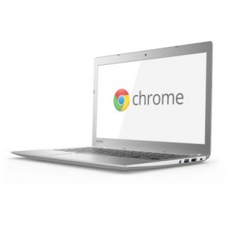 "Toshiba Silver 13.3"" Chromebook 2 PC with Intel Celeron N2840 Processor, 2GB Memory, 16GB SSD and Chrome OS"